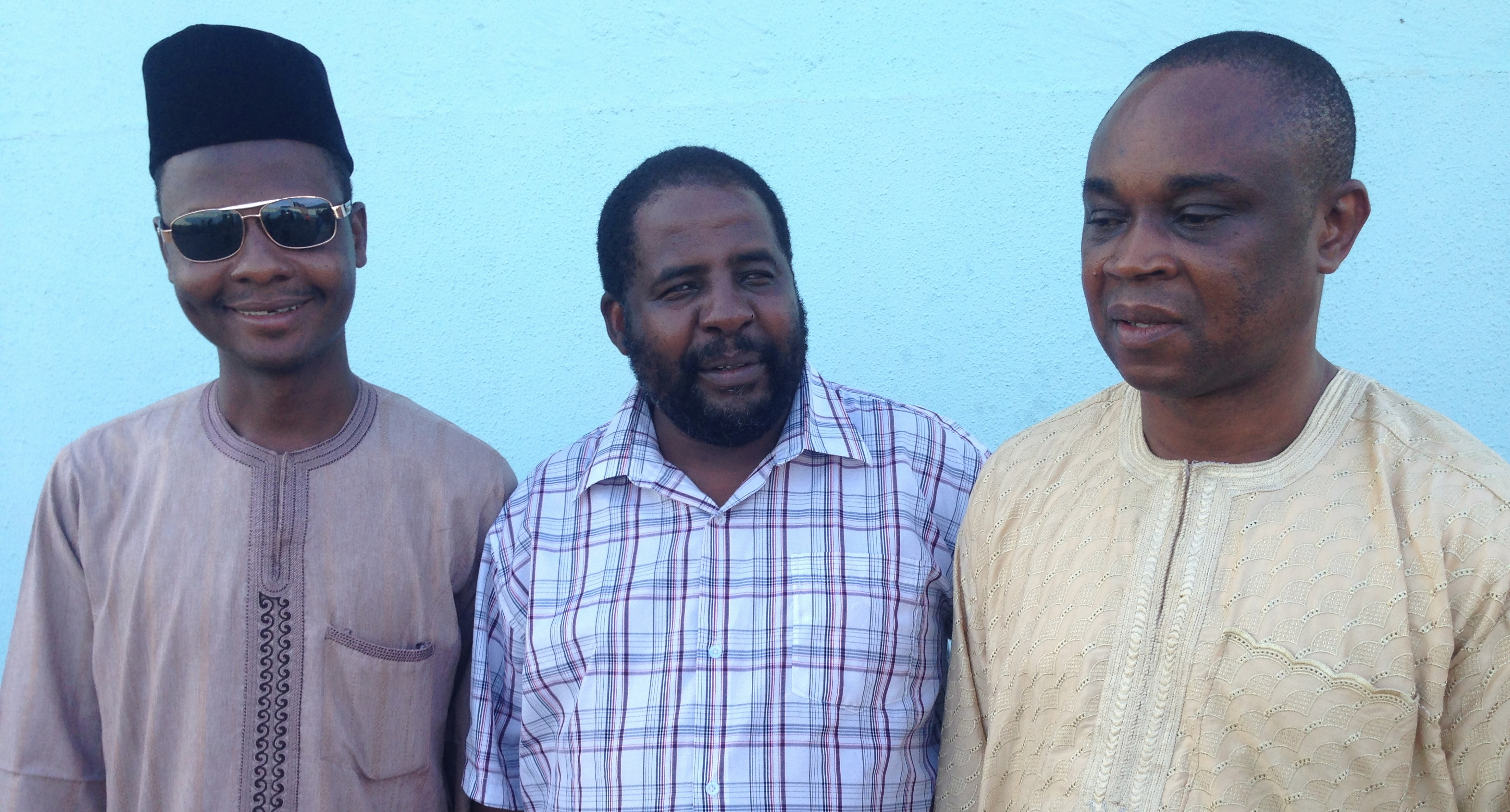 Image of Mr Ishaq, Mr Martin and Mr Okon